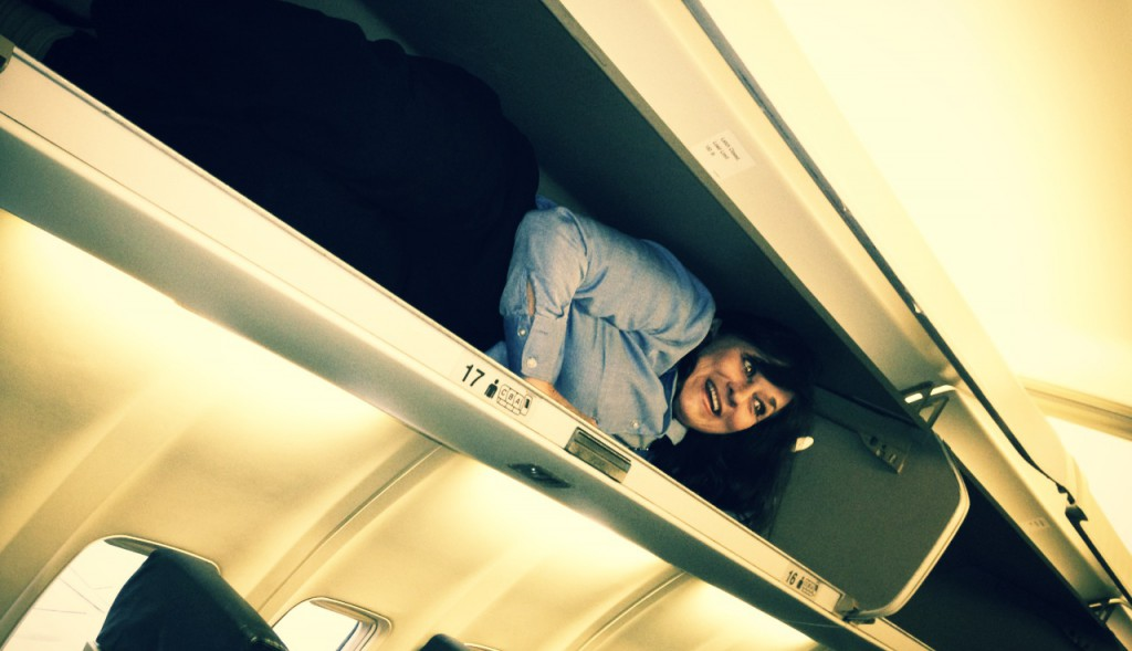 Overhead bins are pretty large