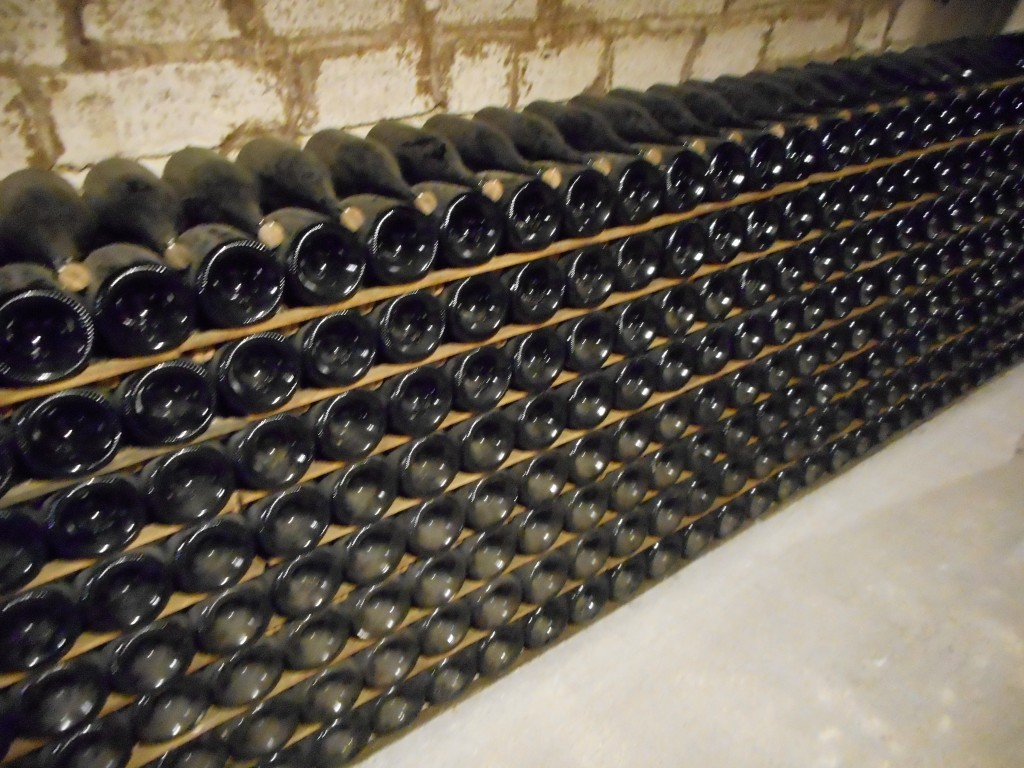 336 bottles of Dom Perignon aging - each bottle is worth at least $150 for a total of $50,400.