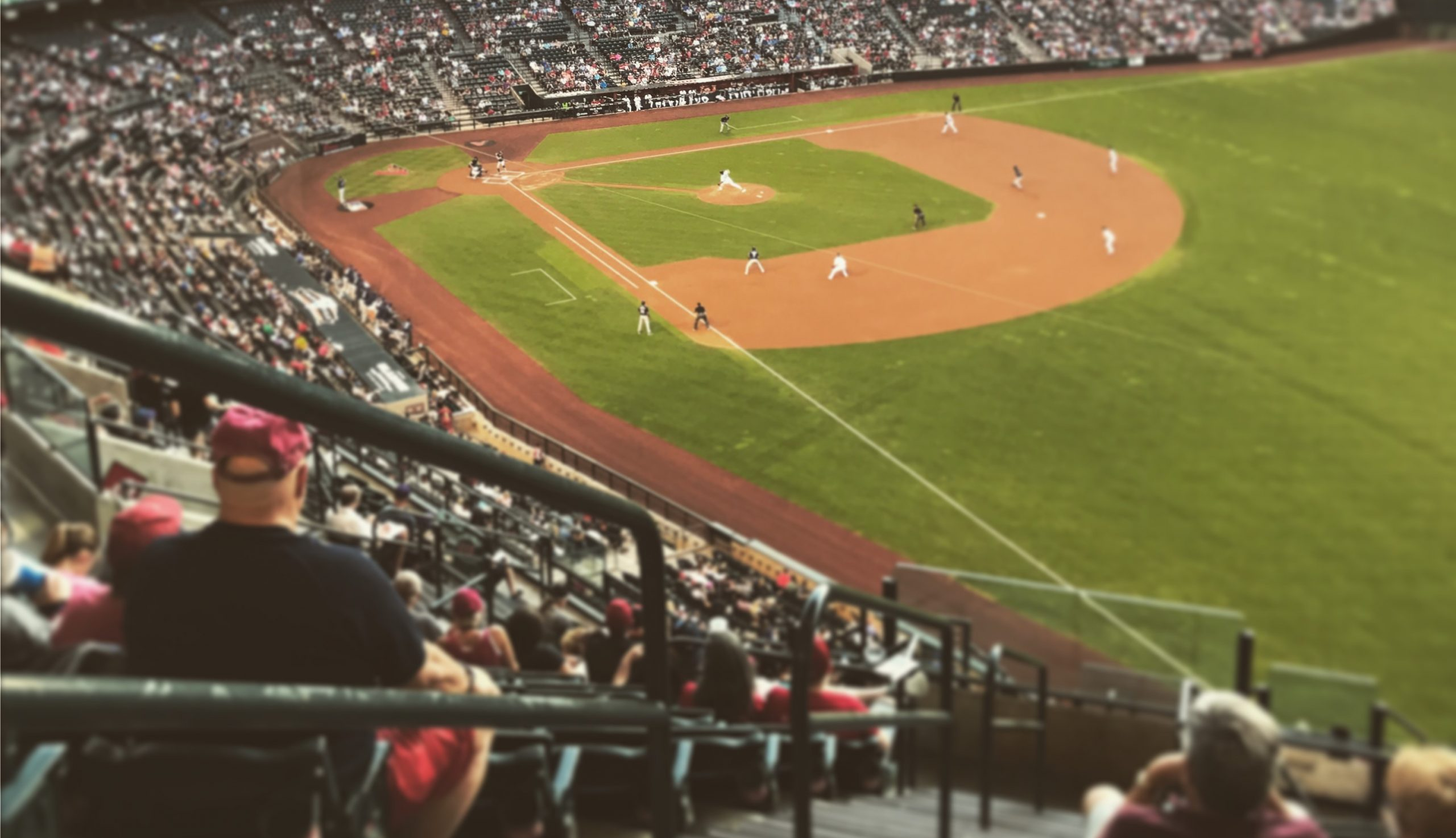 Chase Field with the dbacks pass